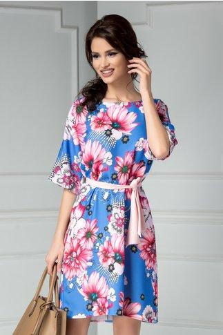 Rochie Brise Marine albastra cu imprimeuri florale