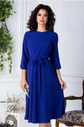 Rochie Brise midi albastra eleganta