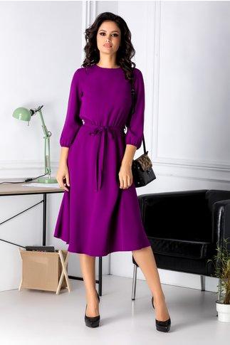 Rochie Brise midi violet eleganta