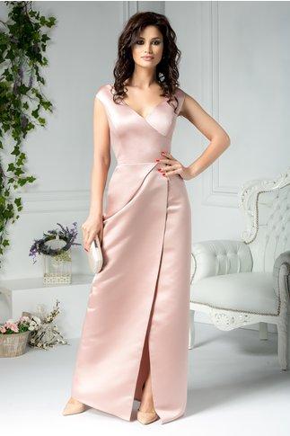 Rochie Brise rose metalic lunga de seara