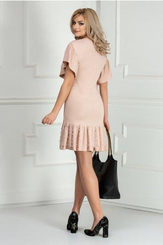 Rochie Brise roz de ocazie cu perle si tull