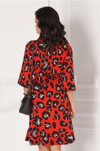 Rochie Camy caramizie print leopard