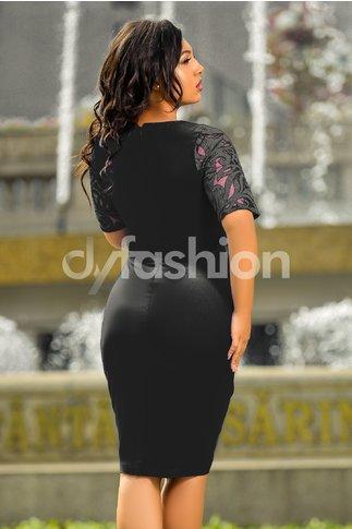 Rochie Carmela Neagra Midi Eleganta