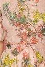Rochie Cassie nude clos cu imprimeuri florale colorate