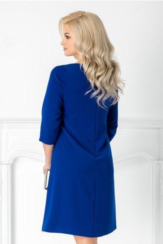 Rochie Cati albastra lejera cu maneci trei sferturi