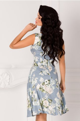 Rochie Cerasela bleu cu imprimeu floral