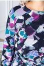 Rochie Coco cu imprimeu multicolor si cordon in talie