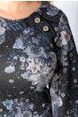 Rochie Coleen neagra cu imprimeu floral