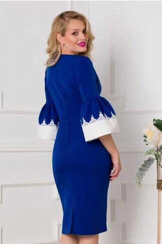 Rochie Cori albastra cu manecile tip clopot