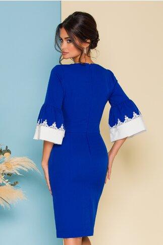 Rochie Ella Collection Cori albastra cu manecile tip clopot