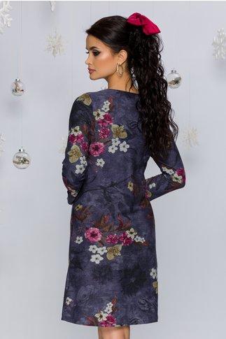 Rochie Cornelia cu imprimeuri florale in nuante pastelate