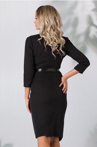 Rochie Cristina neagra cu design petrecut si pliuri