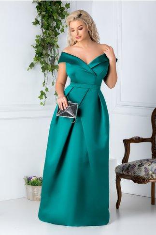 Rochie Daciana eleganta verde lunga