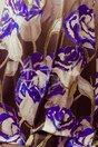 Rochie Damira de Seara cu Flori Albastre