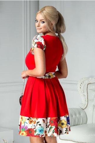 Rochie Darlene rosie clos cu imprimeu floral