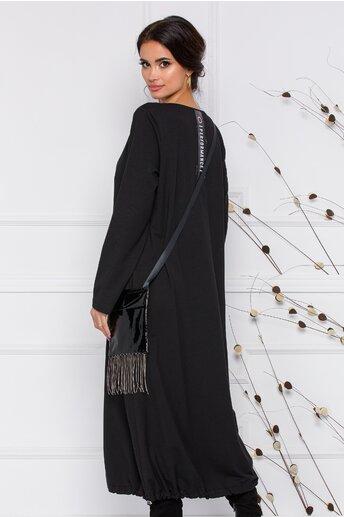 Rochie Delia neagra cu accesoriu