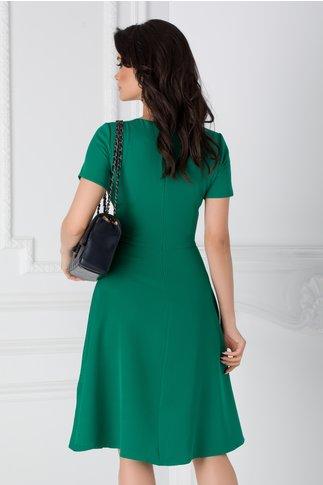 Rochie Denisa verde cu benzi negre