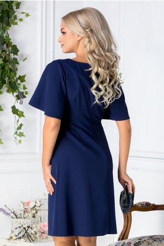 Rochie Devon bleumarin evazata eleganta