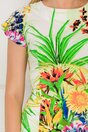 Rochie Diana vernil cu imprimeu floral
