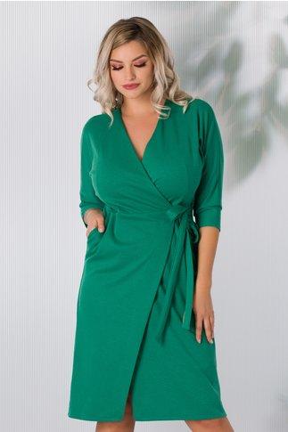 Rochie Doris verde petrecuta