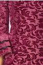 Rochie Ecaterina lila cu insertii din catifea si satin