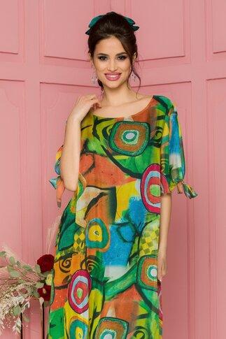 Rochie Eliana cu imprimeu multicolor