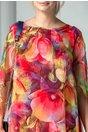 Rochie Eliana cu lalele si imprimeu multicolor