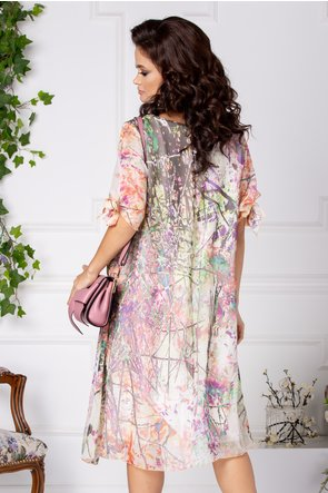 Rochie Ema vaporoasa cu imprimeu multicolor