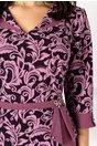 Rochie Ermin lila cu imprimeu floral la bust