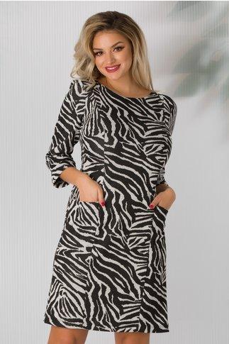 Rochie Eva cu imprimeu zebra