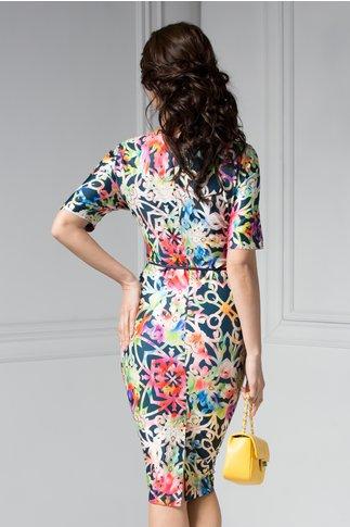 Rochie Felice cu imprimeu multicolor