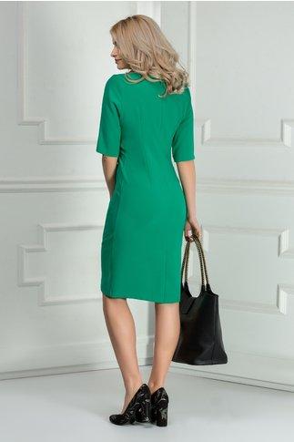 Rochie Fiore verde midi office eleganta