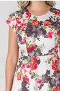 Rochie Francie ivoire cu imprimeu floral