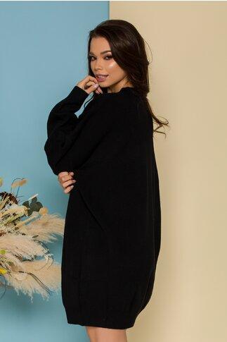 Rochie Freedom neagra casual oversize din tricot