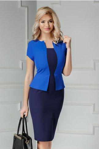 Rochie Freya midi bleumarin cu albastru