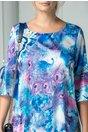Rochie Galia cu imprimeu albastru si violet