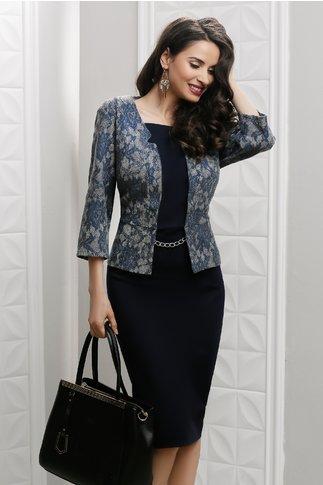 Rochie Gia bleumarin de ocazie stil sacou
