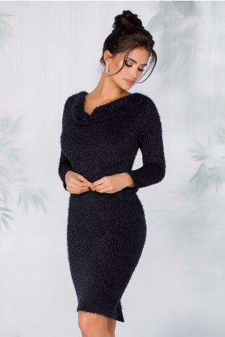 Rochie Gina bleumarin tip tricot