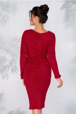 Rochie Gina rosie tip tricot