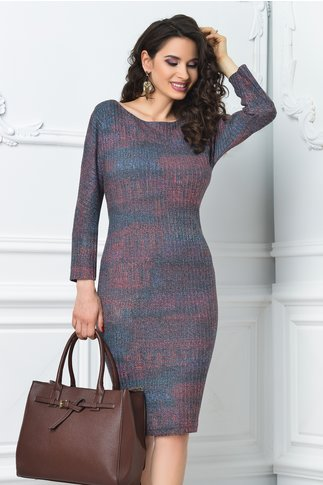 Rochie Ginette casual multicolora office