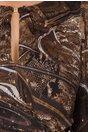 Rochie Ginette maro inchis cu imprimeu divers si insertii aurii straluicitoare