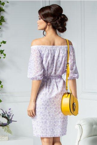 Rochie Gioli lila de vara cu floricele