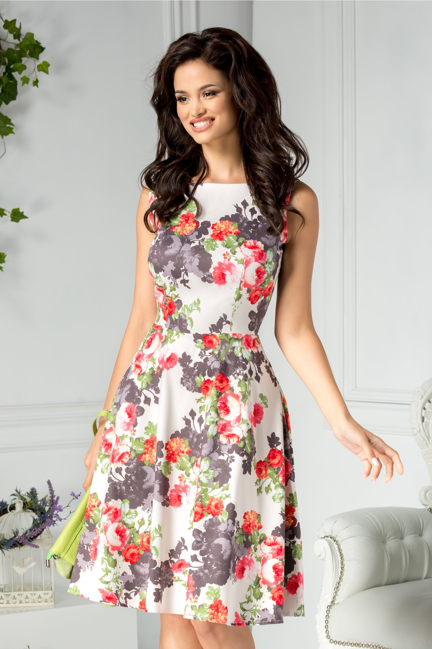 Rochie Giorgia clos de zi cu imprimeu floral