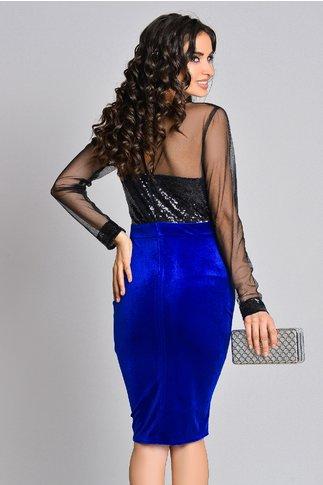Rochie Glitter albastra cu paiete eleganta