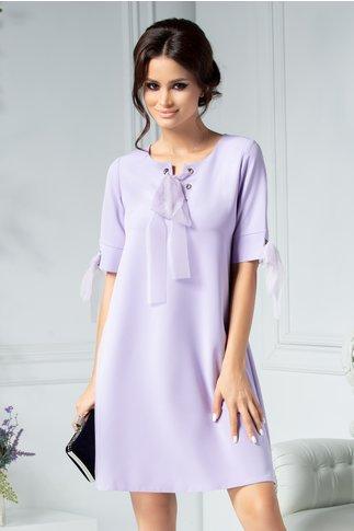 Rochie Gretta lila dreapta eleganta