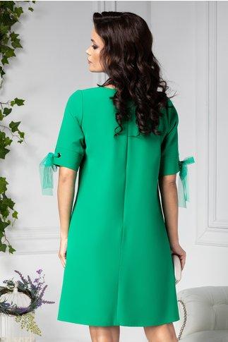 Rochie Gretta verde dreapta eleganta