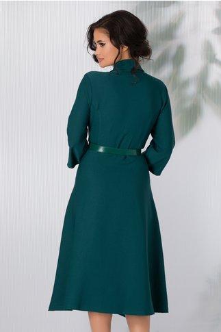 Rochie Hera verde clos cu decolteu petrecut