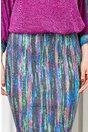 Rochie Hilda mov midi cu imprimeu colorat