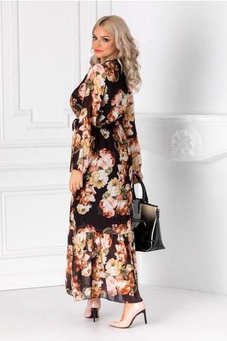 Rochie Holly neagra cu imprimeu floral