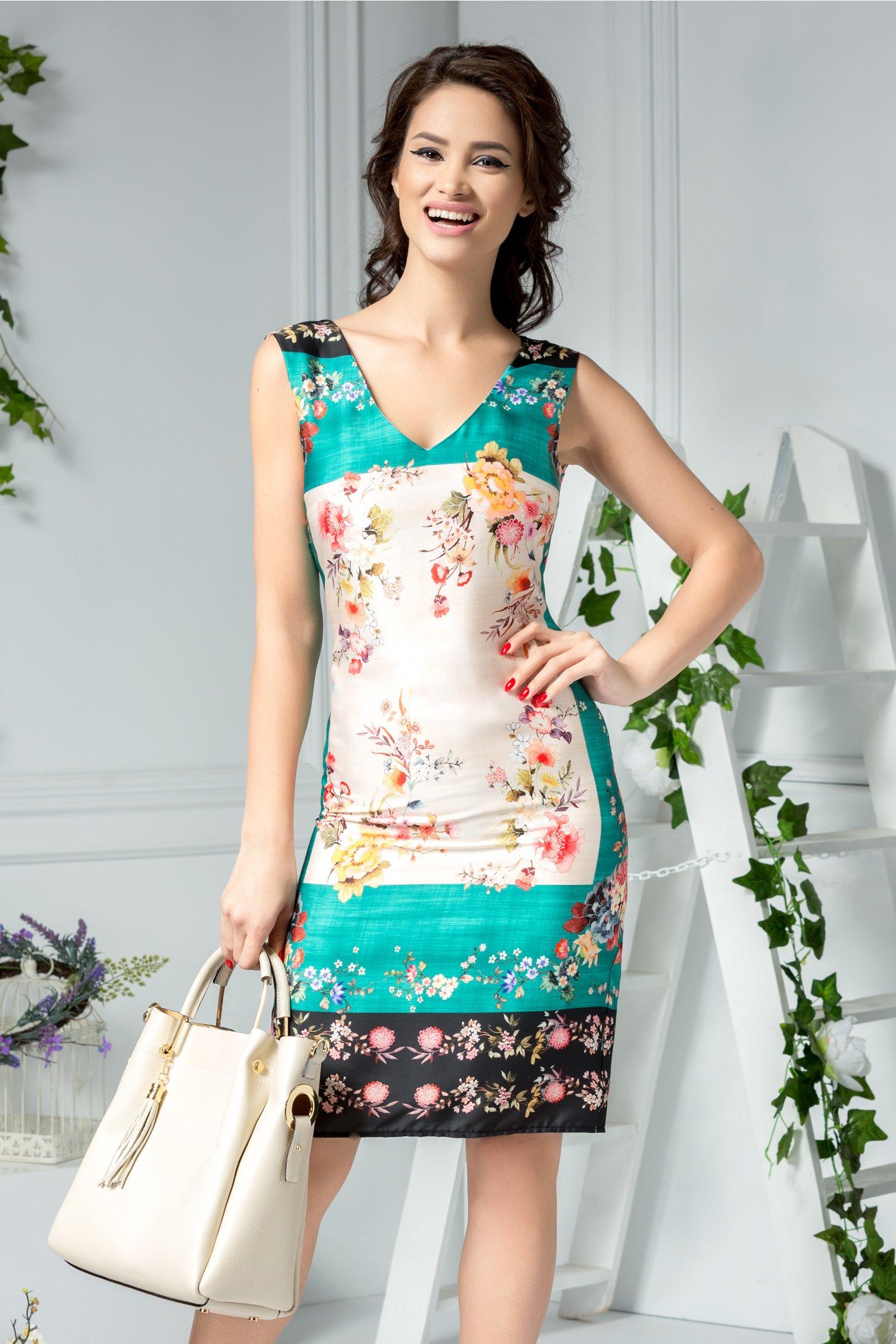 Rochie Inaya de zi cu imprimeu floral